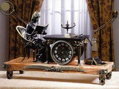 Часы каминные и настольные